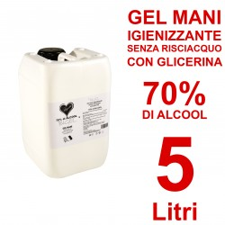 Gel Igienizzante mani senza risciacquo 70% di alcool 5000ml 5l