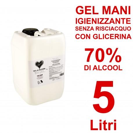 Gel Igienizzante mani senza risciacquo 70% di alcool 250ml